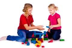 кубики детей замока здания стоковое изображение