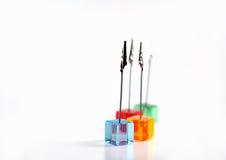 кубики зажимов пластичные Стоковая Фотография