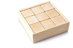кубики изолировали белое деревянное стоковая фотография rf