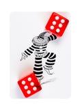 кубики карточки лежа играющ красный цвет 2 стоковая фотография