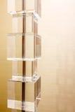 Кубики коробки предпосылки светильника стоковая фотография rf