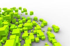 кубики летая зеленый цвет Стоковые Фото