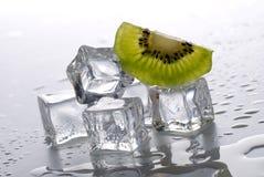 Кубики льда и киви стоковое фото