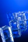 Кубики льда с отражением стоковое фото