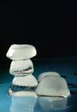 кубики морозят плавить Стоковая Фотография