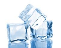 кубики морозят 3 стоковые изображения rf