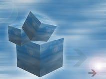 кубики предпосылки Стоковые Фото