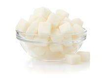Кубики сахара на белой предпосылке стоковое изображение rf