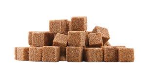 Кубики сахара при изолированный циннамон Стоковые Изображения RF