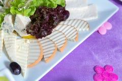 Кубики сыра чеддера изолированные на белизне Голландский сыр прерванный в шаре Часть белой моццареллы изолированная на белом back стоковое изображение