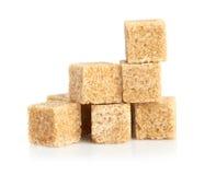 Кубики тростникового сахара Brown стоковые изображения