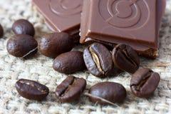 кубики шоколада стоковые фото