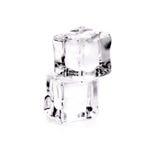 Кубики льда на белой предпосылке Стоковое Фото