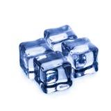 Кубики льда на белой предпосылке стоковое изображение rf