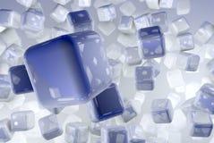 Кубики 3D представляют Стоковые Изображения