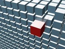 кубик блока 3d Стоковое Изображение RF