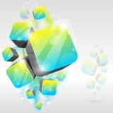 кубик предпосылки 3d Стоковое Изображение RF