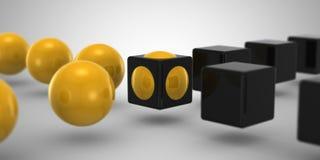 Кубик & сфера Стоковые Изображения RF