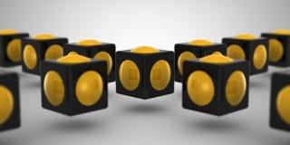 Кубик & сфера Стоковые Фотографии RF