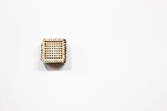 кубик сделал спички Без клея стоковые изображения