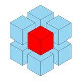 кубик уникально Стоковая Фотография