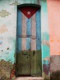 КУБИНЕЦ FLAG-DOOR, ГАВАНА, КУБА Стоковая Фотография