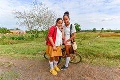 кубинская школа девушок Стоковая Фотография