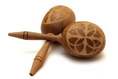 Кубинские деревянные maracas Стоковые Фото