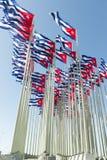 кубинские флаги Стоковое Изображение RF