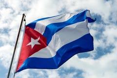 кубинский флаг Стоковая Фотография