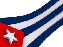 кубинский флаг Стоковые Изображения