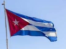 кубинский флаг Стоковое Фото