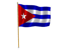 кубинский шелк флага Стоковое Изображение RF