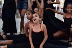 Кубинськие девушки с платьями фламенко Стоковое Изображение RF