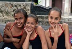 Кубинськие девушки с платьями фламенко Стоковые Фотографии RF