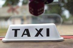 Кубинський знак такси Стоковая Фотография RF