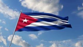 Кубинський флаг иллюстрация вектора