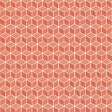 Кубическая красная геометрическая предпосылка - вектор Стоковые Изображения