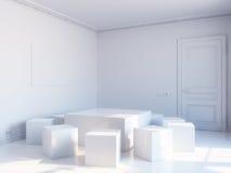 кубическая нутряная белизна Стоковая Фотография RF