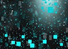 Кубические влияния нерезкости предпосылки зарева Стоковая Фотография