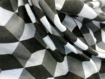 Кубический дизайн на сложенном материале Стоковая Фотография RF