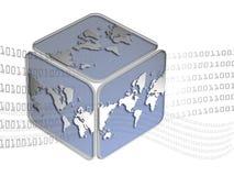 кубический мир карты Стоковая Фотография