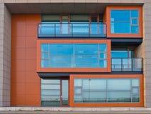 Кубический экстерьер офисного здания дизайна Стоковые Фотографии RF