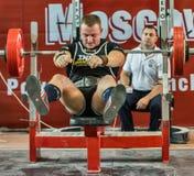 2014 кубка мира powerlifting AWPC в Москве Стоковое фото RF