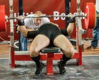 2014 кубка мира powerlifting AWPC в Москве Стоковое Изображение RF