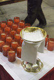 Кубок и свеча Стоковые Изображения RF