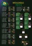 Кубок мира 2014 план-графика спички Стоковая Фотография RF