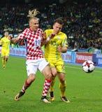 Кубок мира 2018 ФИФА квалифицируя: Украина v Хорватия Стоковое Изображение