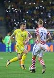 Кубок мира 2018 ФИФА квалифицируя: Украина v Хорватия Стоковые Фото