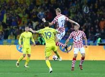 Кубок мира 2018 ФИФА квалифицируя: Украина v Хорватия Стоковые Фотографии RF